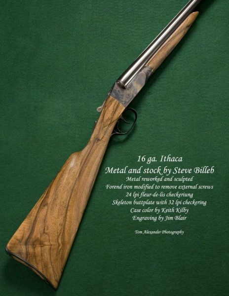 16 ga Ithaca custom gun by Steve Billeb engraving by Jim Blair
