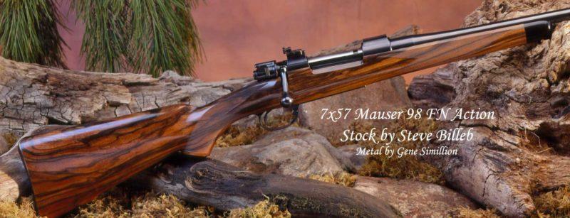 7x57 Mauser 98 FN Action custom gun by Steve Billeb and Gene Simillion