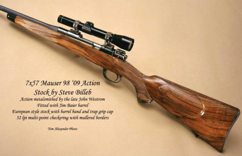 7x57 Mauser 98 custom gun by Steve Billeb