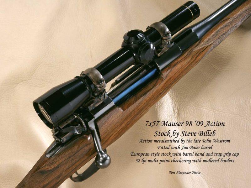 7x57 Mauser 98 '98 Action custom gun by Steve Billeb