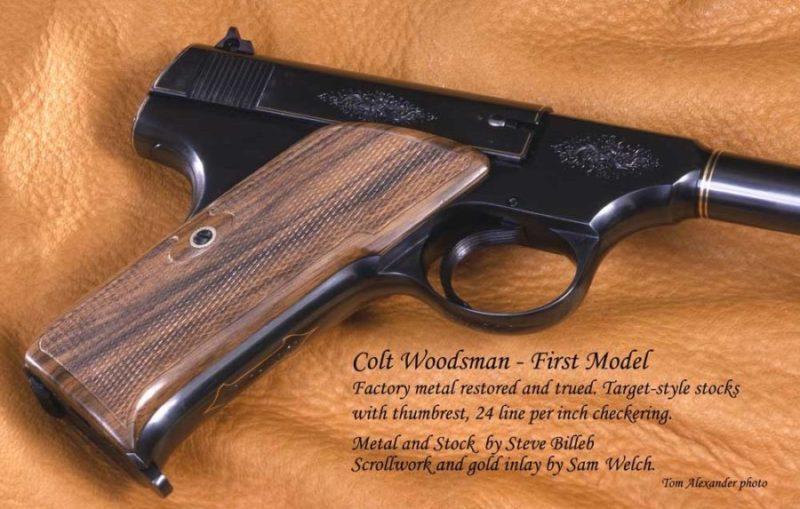 Colt Woodsman Fist Model metal and stock by Steve Billeb